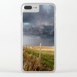 Soft - Storm Along Fence Line in Texas Panhandle Clear iPhone Case