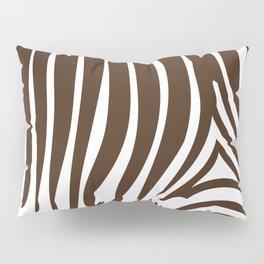 Zebra Stripes   Animal Print   Chocolate Brown and White   Pillow Sham