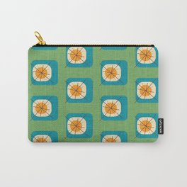 Flower Eggs Green Carry-All Pouch