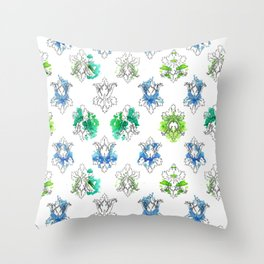 Sherlock Rorschach Wallpaper Lilies Throw Pillow