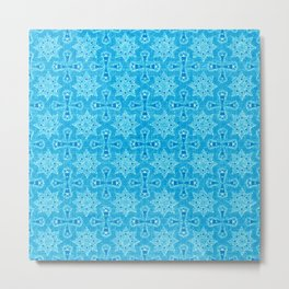 Blue Star Flower Metal Print
