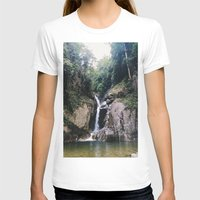 waterfall T-shirts featuring Waterfall by Arshii Khaleel