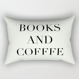 Books & Coffee Rectangular Pillow