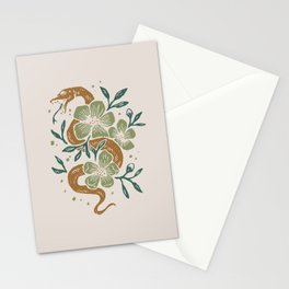 Abstract Mid Century Snake Flowers Stationery Cards