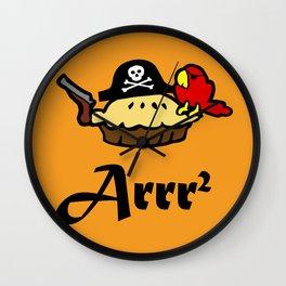 Pie Arrr Squared Wall Clock
