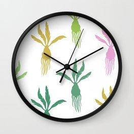 Plants & Roots II Color Pop Wall Clock