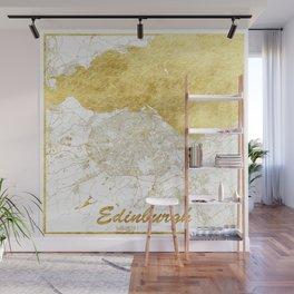 Edinburgh Map Gold Wall Mural