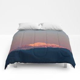 Sunset on Mount Baker Comforters