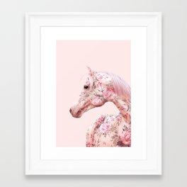 FLORAL HORSE Framed Art Print