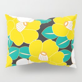 Shades of Tsubaki - Yellow & Black Pillow Sham