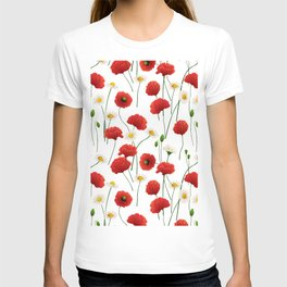 Poppies and daisies T-shirt