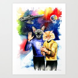 Star Trek sphynx Art Print
