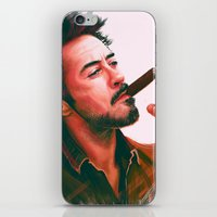 actor iPhone & iPod Skins featuring Mr Downey, Jr. by Thubakabra