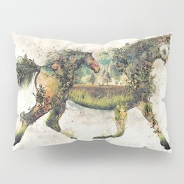 Wild Horse Surrealism Pillow Sham