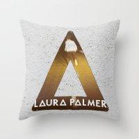 laura palmer Throw Pillows featuring Bastille #1 Laura Palmer by Thafrayer