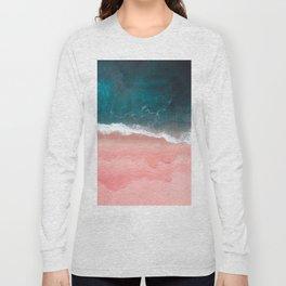 Turquoise Sea Pastel Beach III Long Sleeve T-shirt