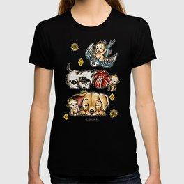 Kewpies & Baby Animals Flash  T-shirt