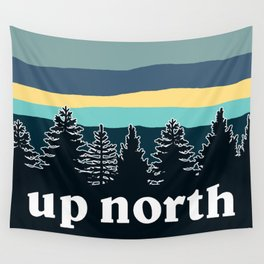 up north, teal & yellow Wall Tapestry