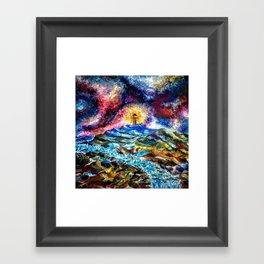 Lighthouse Landscape Framed Art Print