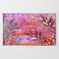 fruits Area & Throw Rugs featuring Tropical Fruits by LebensART