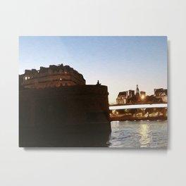Paris Solitude Metal Print