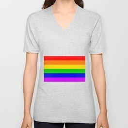 Gay Rainbow Transgender Rainbow Flag Unisex V-Neck