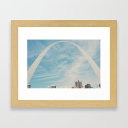 the gateway to the west ... Framed Art Print