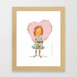 Cat and Love Framed Art Print
