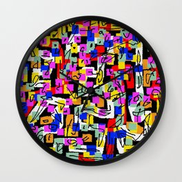 abstract laberinto Wall Clock