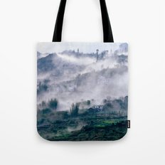 Foggy Mountain of Vietnam Tote Bag