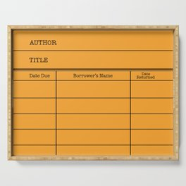 LiBRARY BOOK CARD (tang) Serving Tray