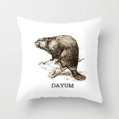 DAM, GIRL... Throw Pillow