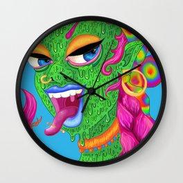 the green girl Wall Clock