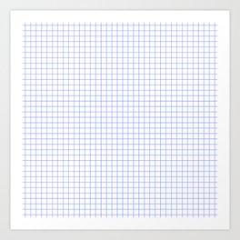 Blue Light Grid Art Print