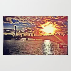 Sunset over London Rug