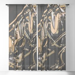 Musical Gold Sheer Curtain