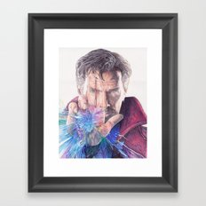Dr Strange Pen Drawing Framed Art Print