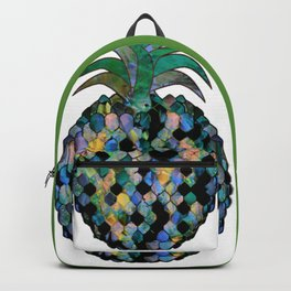 Electric Blue Pineapples Backpack
