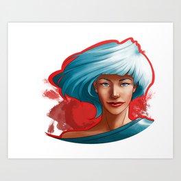Bright Red Art Print