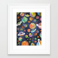 planet Framed Art Prints featuring Planet by Michaella Fonseca