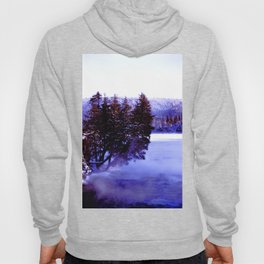 Winter Stream in the northern boreal forest Hoody