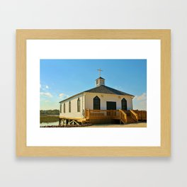 Chapel Over Pawleys Creek Framed Art Print
