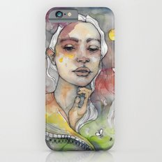 Full moon, watercolor art Slim Case iPhone 6s