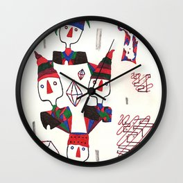 Geometric Gymnasts Wall Clock