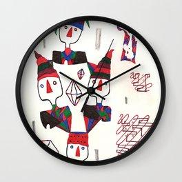 Geometric Gymnasts Wall Clock