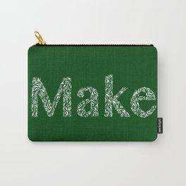 Make: Cut Paper Typography in Green Carry-All Pouch