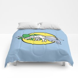 Horned Warrior Friends (unicorn, narwhal, triceratops, rhino) Comforters