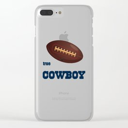 True Cowboy American Football Design black lettering Clear iPhone Case