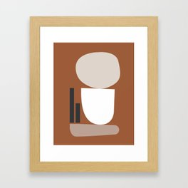Shape study #11 - Stackable Collection Framed Art Print