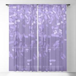 Sprinkle Utra Violet Sheer Curtain